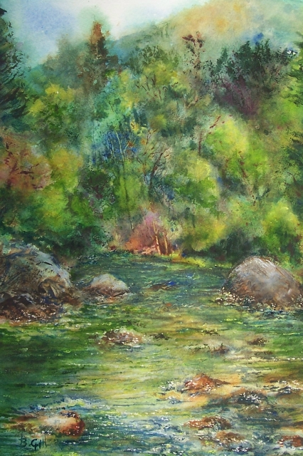 This 14x18 watercolor was done near Estes Park, Colorado.