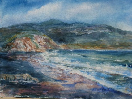 This 24x36 watercolor was painted in Point Reyes.