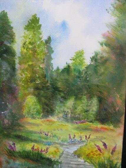 This 16x20 watercolor is of Calaveras Big Trees.