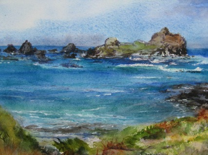 This 16x20 watercolor was done near Crescent City, California.