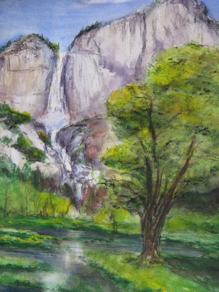 This 18x24 watercolor is from Swinging Bridge viewpoint.