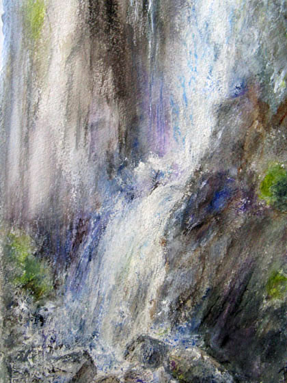 This 16x20 watercolor is of Lower Yosemite Falls.