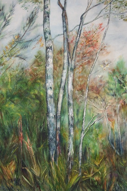 A painting from the Croatan swamp in North Carolina.