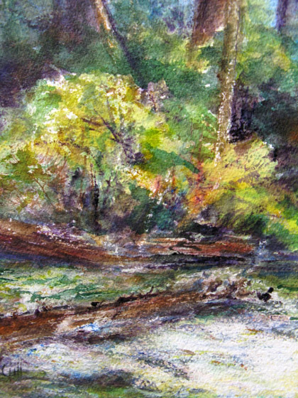 This 12x16 watercolor was painted at Kennedy Meadows in the Sierras.