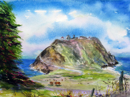 This 16x20 painting was done at the Point Sur Lighthouse on Highway 1.