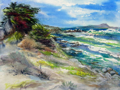 This 16x20 was painted along 17 mile drive in Monterey.