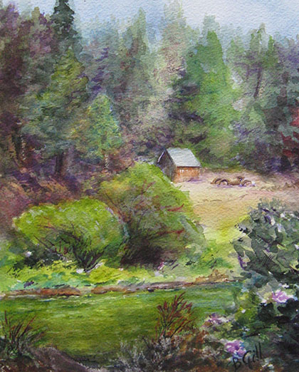 This 12x16 watercolor is in the Sierra Mtn., California