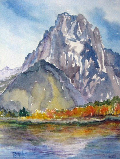 This 12x16 watercolor is from the banks of Snake River.