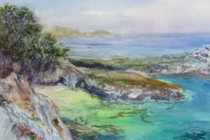 This 16 x 20 watercolor painting was done at Point Lobos State Park, Carmel, CA.