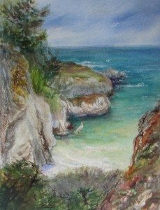 This 16 x 20 watercolor painting was done at Point Lobos State Park, Carmel, Ca