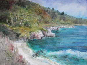 This 16 x 20 watercolor was painted at Point Lobos State Park, Carmel, CA