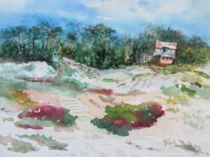 This 8 x 10 watercolor was done along 17 Mile Drive in Pacific Grove, CA.